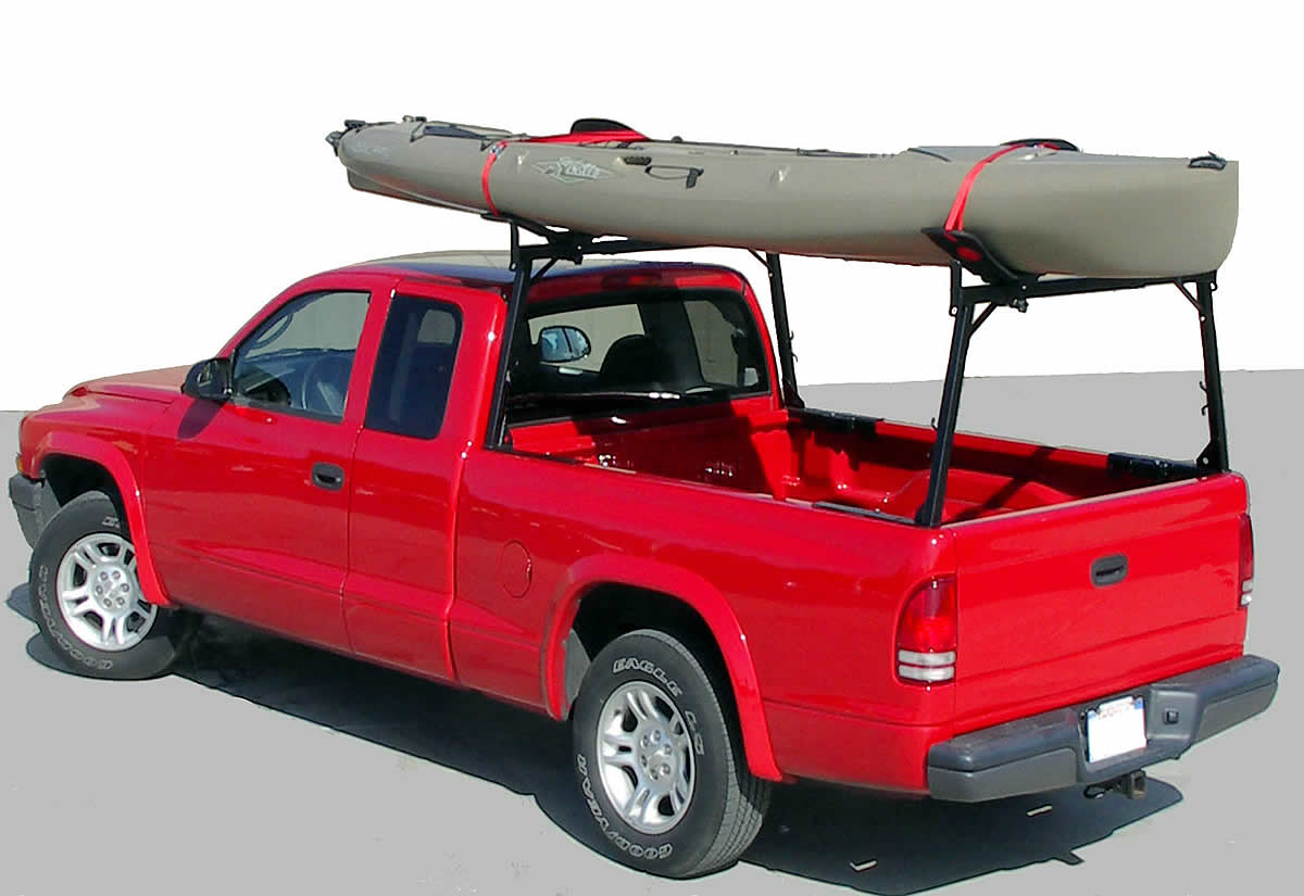 Rail Rack Carrying Kayak with Malone Kayak Carriers