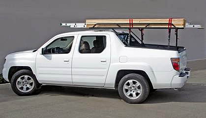 The Honda RidgeLine Rack 3 loads up to 500 lbs.