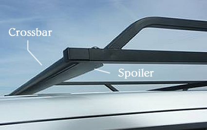 The Honda RidgeLine Rack 3 spoiler greatly reduces the wind noise common to other over-cab racks.
