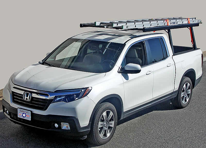 This Pickup TRUCK RACK looks good on the Honda RIDGELINE during work or play.