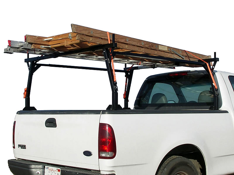 Stake Pocket Rack carrying two ladders
