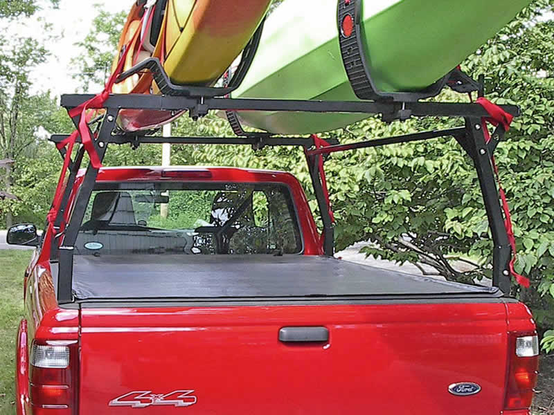 Stake Pocket Rack mounted with Tonneau Cover