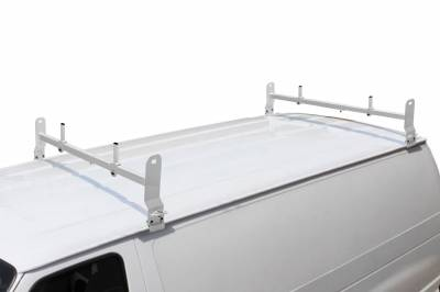 Van Rack, 2 pc, White, Clamp On Installation - PN #84630214