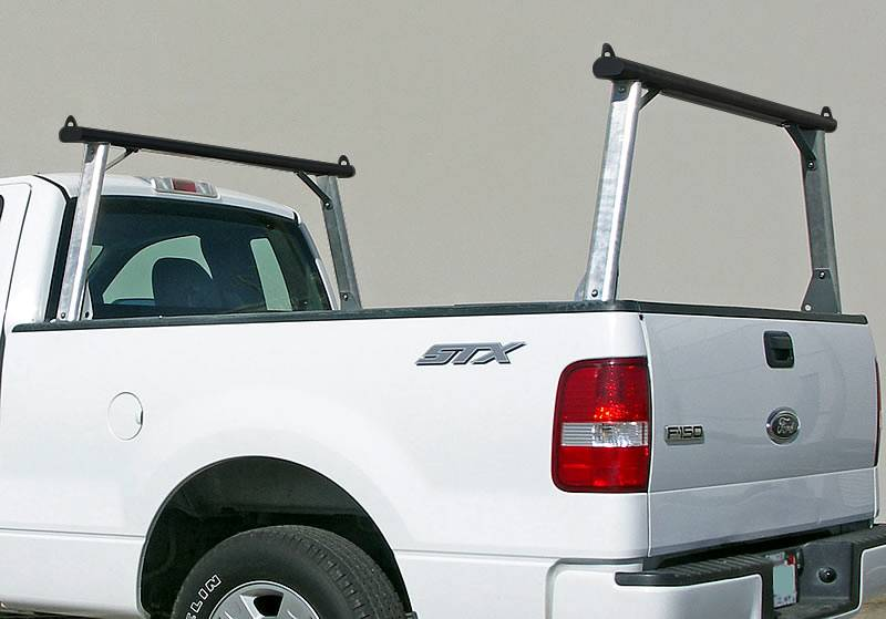 Clipper Truck Rack, Fleetside, Brushed Cross Bar, Black Legs and Base - PN #82210012