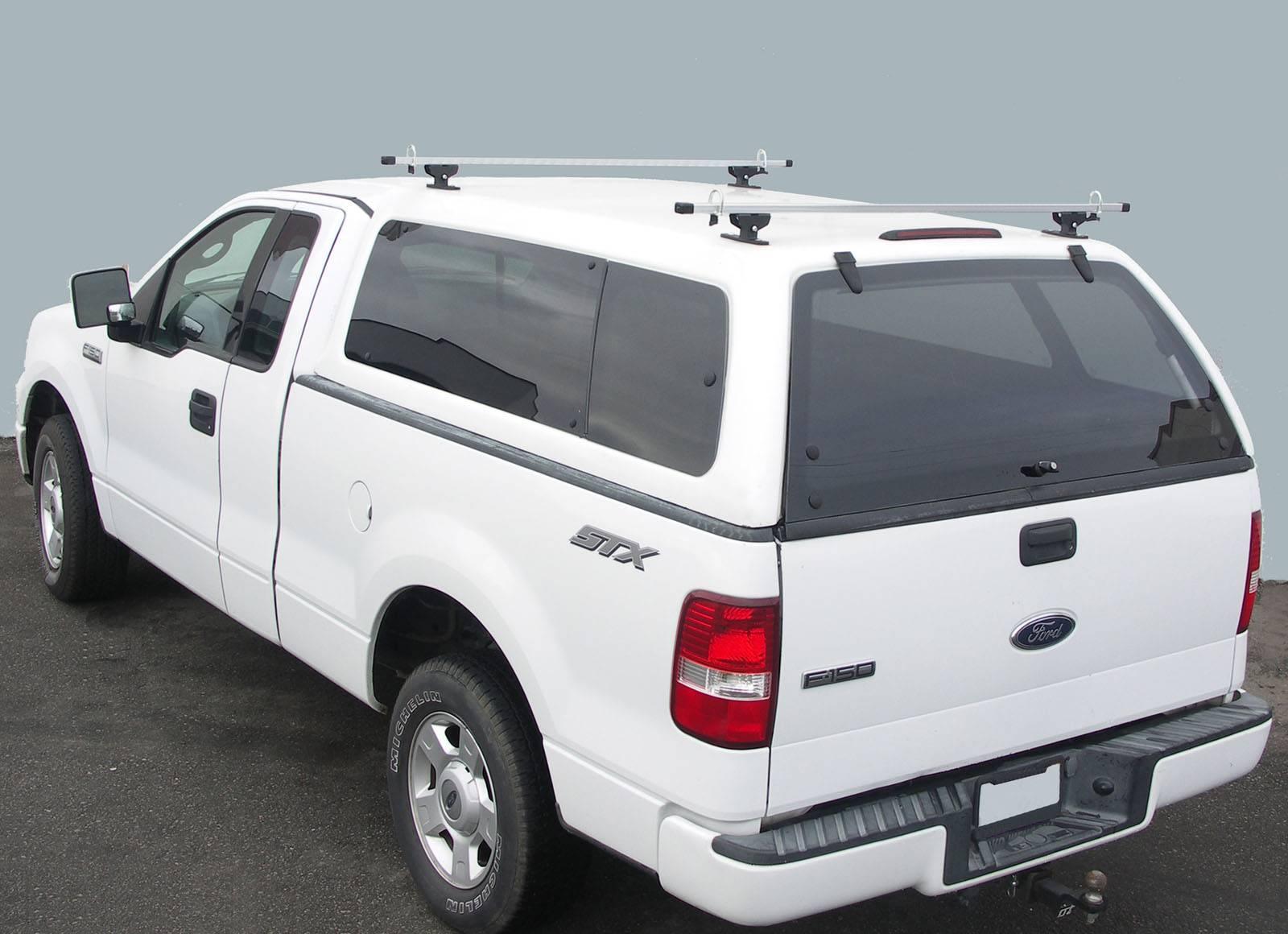 Crosstopper Truck Rack, Truck Cap, Brushed Cross Bar With Black Base - PN #82310042