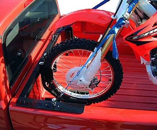 Motorcycle Grip Truck Rack 2 Wheel Chocks, Black - PN #82810711