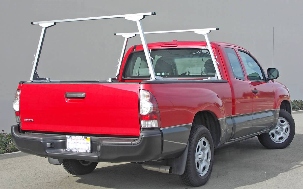 Paddler Truck Rack for Cabs Over 24 Inches, Fleetside, Half Set, With Thule Accessory Compatible Cross Bars - PN #83010313