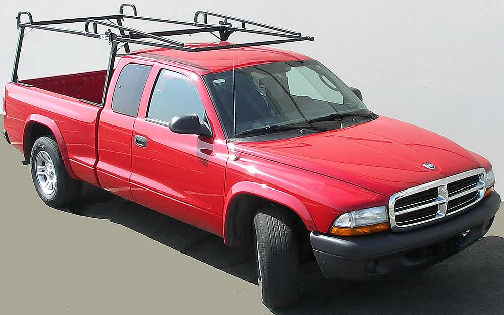 Rail Rack 2 for Cabs Under 24 Inches, Long Bed, Fleetside, Black - PN #83210231