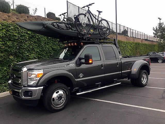 2002-2020 Dodge Ram Mega Cab Fifth Wheel 6 Rack, With Crossbar, With Deck, Black, 6 Ft Over Cab - PN #82580611