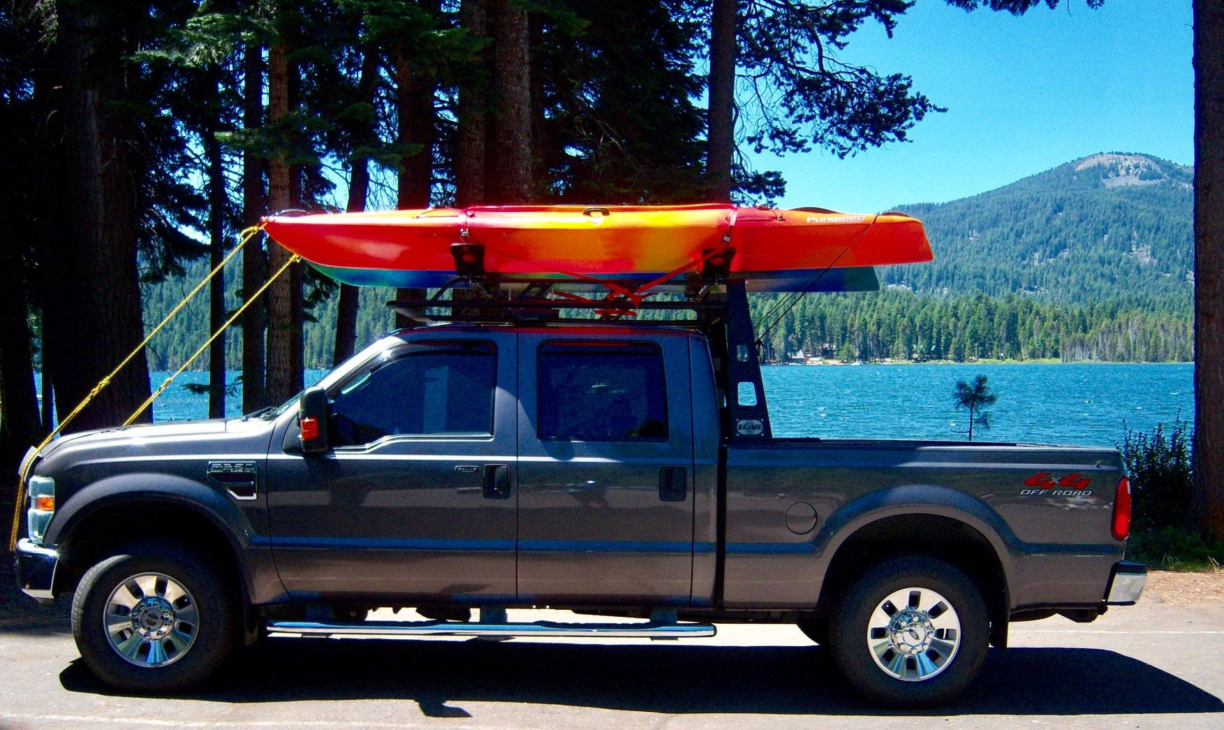 1999-2003 Ford F-150 Flairside Fifth Wheel 6 Rack, Without Crossbar, Without Deck, Black, 6 Ft Over Cab - PN #82550411