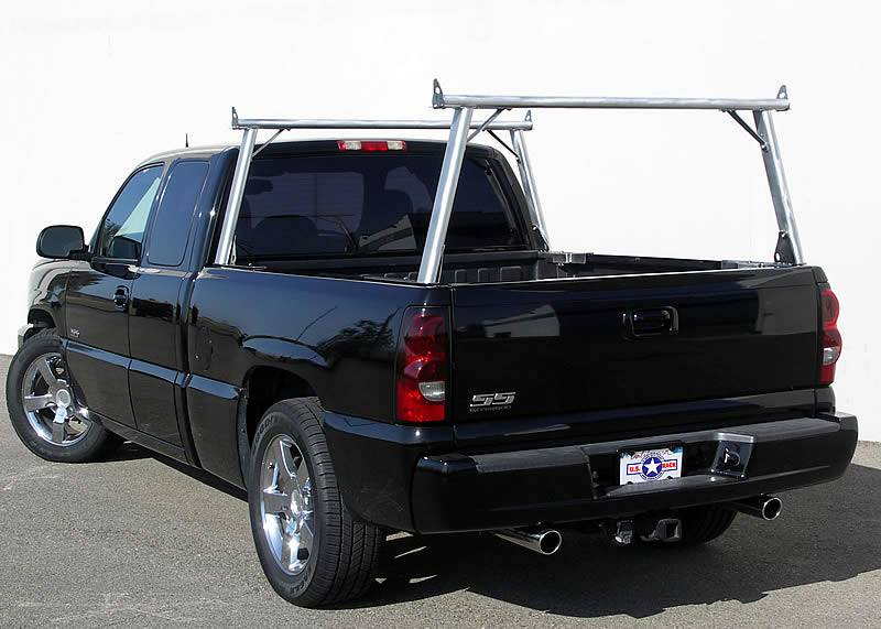 2008-2020 Nissan Titan Clipper Truck Rack, Track System, Brushed Cross Bar and Legs With Bead Blasted Base - PN #82270251