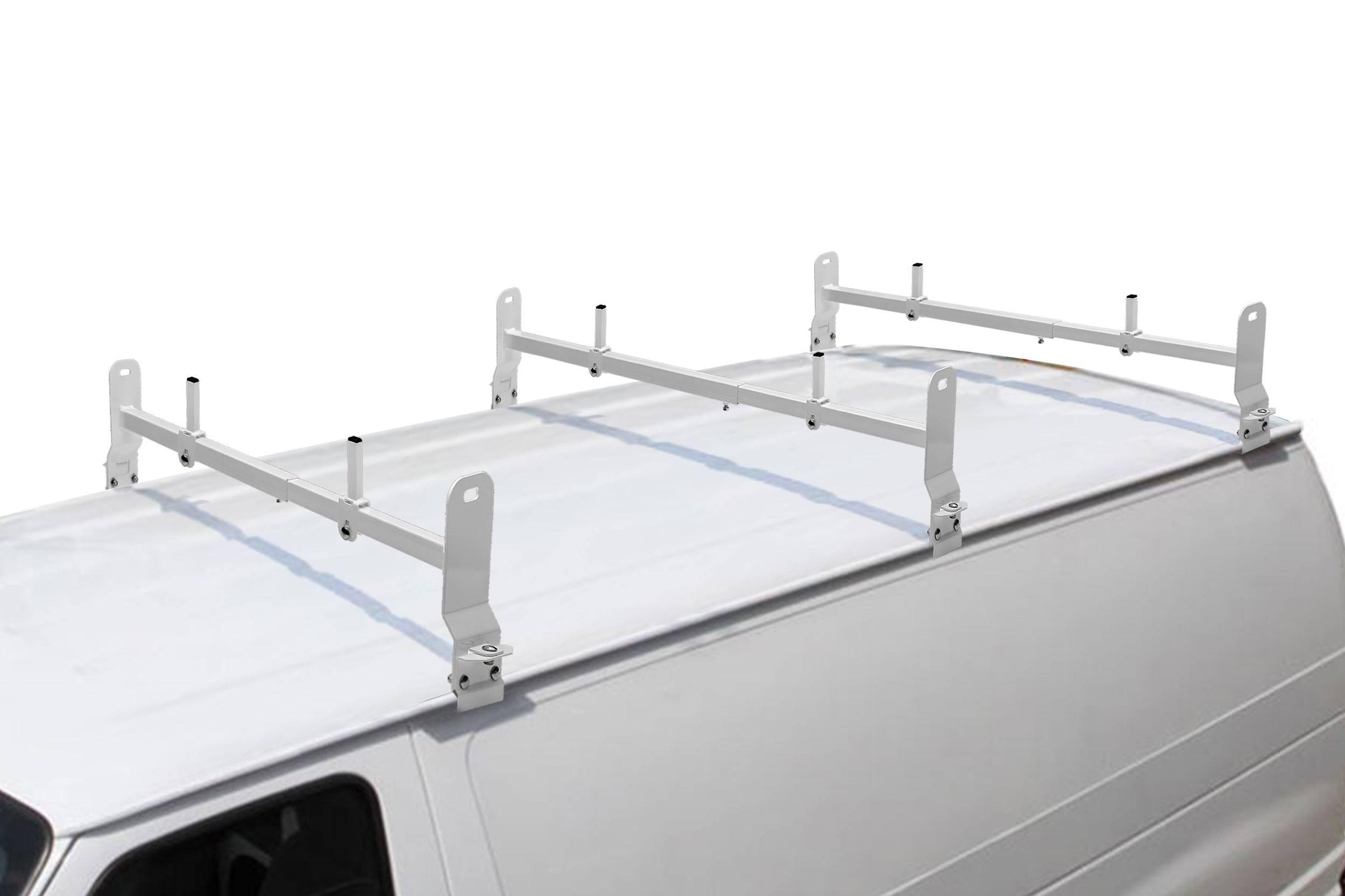 Van Rack, 3 pc, White, Clamp On Installation - PN #84630314