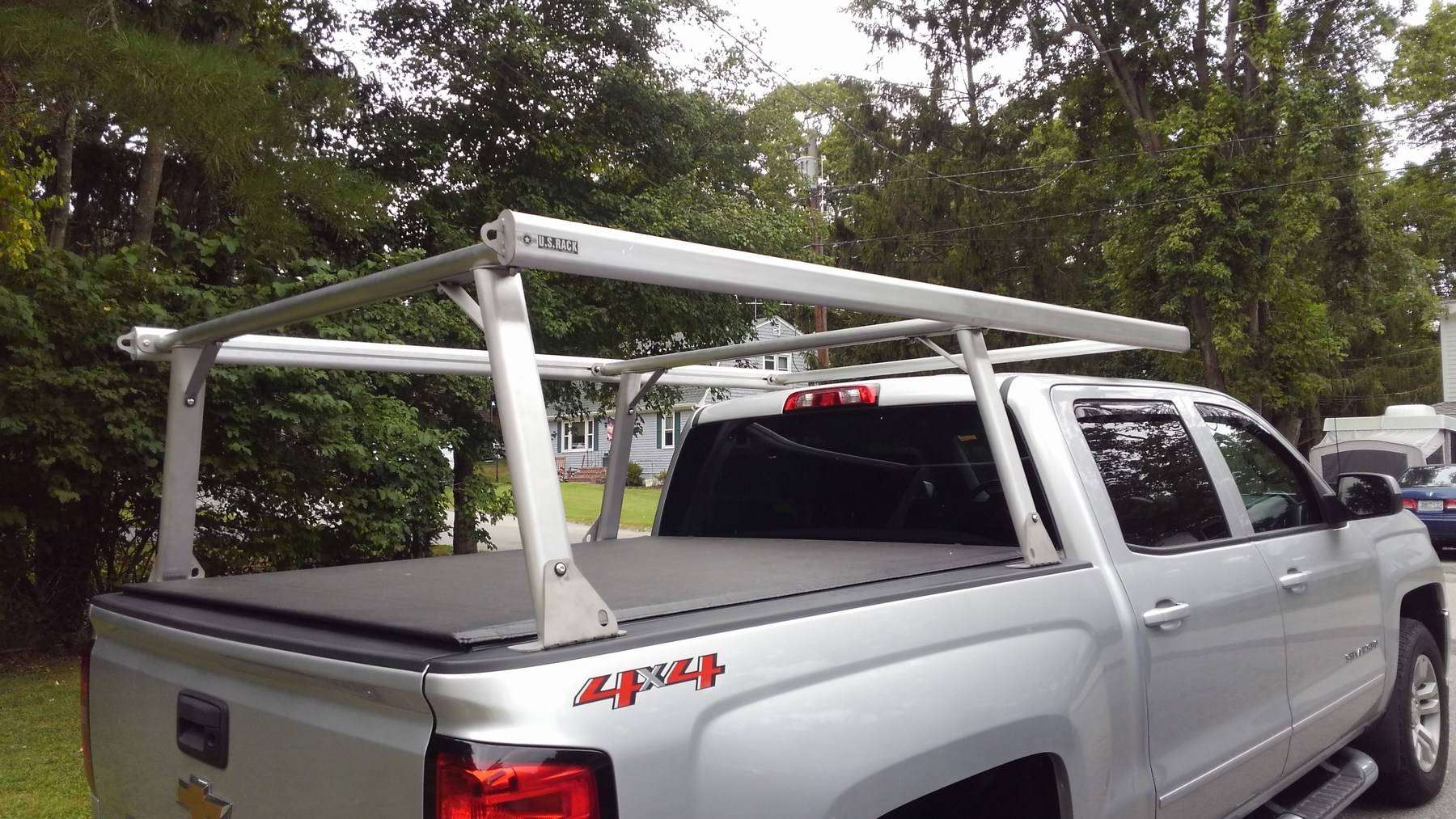 Toyota Tacoma Galleon Truck Rack for Cabs Under 24 Inches, Standard Legs, Brushed Frame With Bead Blasted Base - PN #82690210