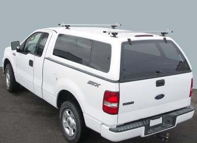 Crosstopper Truck Rack, Truck Cap, Brushed Cross Bar With Black Base - PN #82310042 - Image 1