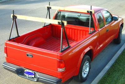 Hawaiian Sawhorse Truck Rack, Fleetside, All Cab Heights, All Bed Lengths, Black - PN #82710011 - Image 1