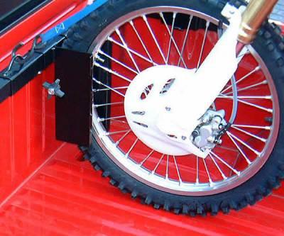 Motorcycle Grip Truck Rack 2 Wheel Chocks, Black - PN #82810711 - Image 3