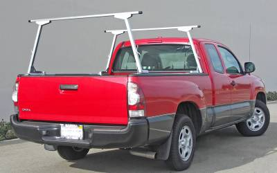 Paddler Truck Rack for Cabs Over 24 Inches, Fleetside, Half Set, With Thule Accessory Compatible Cross Bars - PN #83010313 - Image 1