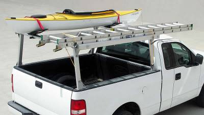 Schooner Truck Rack for Cabs Under 24 Inches, Fleetside, Standard Legs, Brushed Frame With Bead Blasted Base - PN #83910220 - Image 2