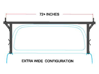 Stake Pocket Truck Rack for Cabs Under 24 Inches, Wide Legs - PN #84210511 - Image 4