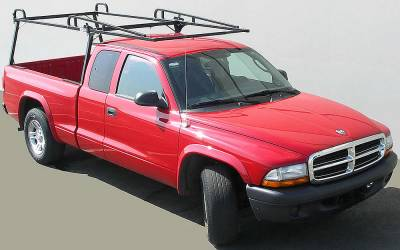 Rail Rack 2 for Cabs Under 24 Inches, Long Bed, Fleetside, Black - PN #83210231 - Image 1