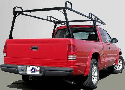 Rail Rack 2 for Cabs Under 24 Inches, Long Bed, Fleetside, Black - PN #83210231 - Image 2