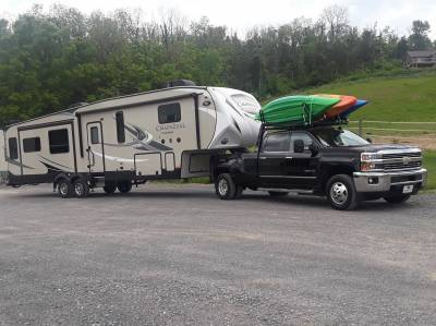2007-2021 Silverado/Sierra Fifth Wheel 6 Rack, With Crossbar, With Deck, Black, 6 Ft Over Cab - PN #82520611 - Image 3