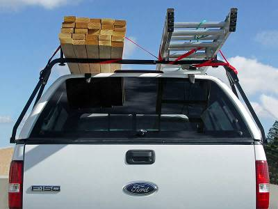 Truck Cap Rack for Caps Under 27 Inches,Wide Bed Rails - PN #84415011 - Image 4