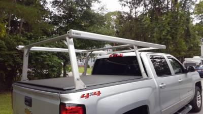Galleon Truck Rack for Cabs Over 24 Inches, Standard Legs, Brushed Frame With Bead Blasted Base - PN #82610310 - Image 1