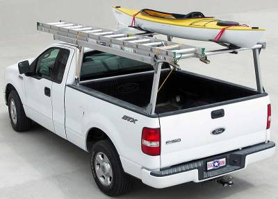 Galleon Truck Rack for Cabs Over 24 Inches, Standard Legs, Brushed Frame With Bead Blasted Base - PN #82610310 - Image 2