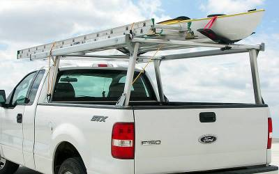 Galleon Truck Rack for Cabs Over 24 Inches, Standard Legs, Brushed Frame With Bead Blasted Base - PN #82610310 - Image 3