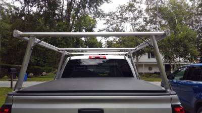 Galleon Truck Rack for Cabs Over 24 Inches, Standard Legs, Brushed Frame With Bead Blasted Base - PN #82610310 - Image 10