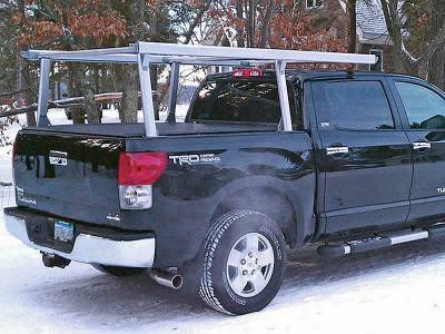 Galleon Truck Rack for Cabs Over 24 Inches, Standard Legs, Brushed Frame With Bead Blasted Base - PN #82610310 - Image 11