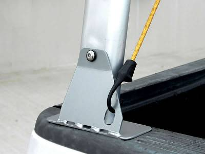 Schooner Truck Rack for Cabs Over 24 Inches, Fleetside, Wide Legs, Brushed Frame With Bead Blasted Base - PN #83910620 - Image 5