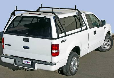 Truck Cap Rack for Caps Under 27 Inches, Tapered Width Bed Rails, Wide Front Bed Rails, Standard Width Rear Bed Rails - PN #84315711 - Image 1