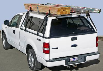 Truck Cap Rack for Caps Under 27 Inches, Tapered Width Bed Rails, Wide Front Bed Rails, Standard Width Rear Bed Rails - PN #84315711 - Image 3