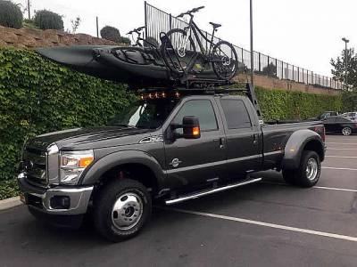 1999-2003 Ford F-150 Step Side Fifth Wheel 6 Rack, With Crossbar, With Deck, Black, 6 Ft Over Cab - PN #82550911 - Image 1