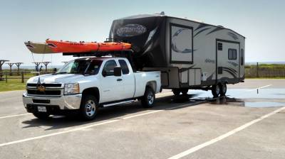 1999-2019 Ford Super Duty Fifth Wheel 6 Rack, With Crossbar, Without Deck, Black, 6 Ft Over Cab - PN #82551411 - Image 3