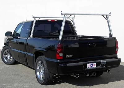 2008-2020 Nissan Titan Clipper Truck Rack, Track System, Brushed Cross Bar and Legs With Bead Blasted Base - PN #82270251 - Image 1