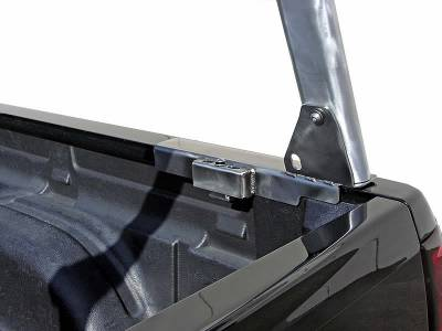 2008-2020 Nissan Titan Clipper Truck Rack, Track System, Brushed Cross Bar and Legs With Bead Blasted Base - PN #82270251 - Image 7
