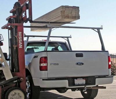 2005-2018 Toyota Tacoma Clipper Truck Rack, Track System, Brushed Cross Bar and Legs With Bead Blasted Base - PN #82290150 - Image 2