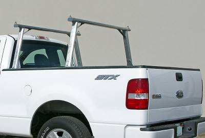 1999-2018 Toyota Tundra Clipper Truck Rack, Track System, Brushed Cross Bar and Legs With Bead Blasted Base - PN #82290410 - Image 4