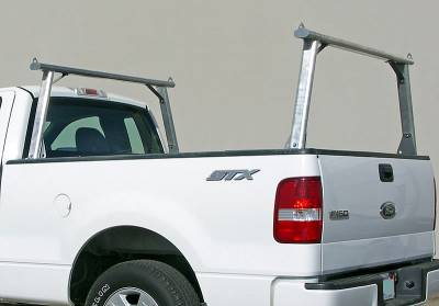 1999-2018 Toyota Tundra Clipper Truck Rack, Track System, Brushed Cross Bar and Legs With Bead Blasted Base - PN #82290410 - Image 5