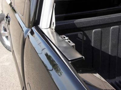 1999-2018 Toyota Tundra Clipper Truck Rack, Track System, Brushed Cross Bar and Legs With Bead Blasted Base - PN #82290410 - Image 6
