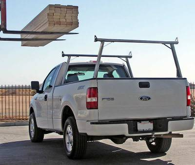 1999-2018 Toyota Tundra Clipper Truck Rack, Track System, Brushed Cross Bar and Legs With Bead Blasted Base - PN #82290410 - Image 9