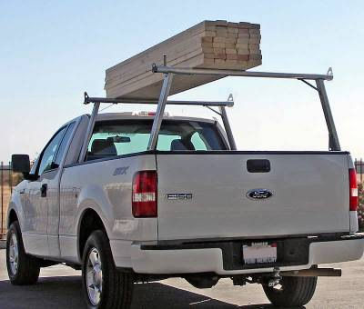 1999-2018 Toyota Tundra Clipper Truck Rack, Track System, Brushed Cross Bar and Legs With Bead Blasted Base - PN #82290410 - Image 10