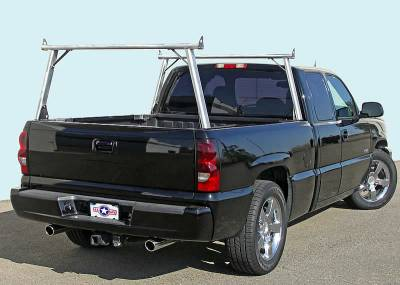 1999-2018 Toyota Tundra Clipper Truck Rack, Track System, Brushed Cross Bar and Legs With Bead Blasted Base - PN #82290410 - Image 12