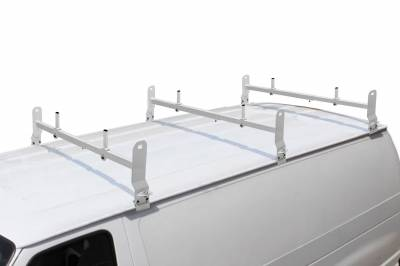 Van Rack, 3 pc, White, Clamp On Installation - PN #84630314 - Image 1