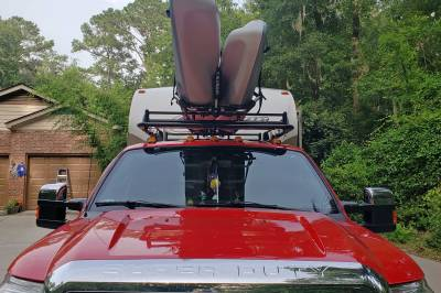 1999-2020 Ford Super Duty Fifth Wheel 6 Rack, With Crossbar, Without Deck, Black, 6 Ft Over Cab - PN #82551411 - Image 4