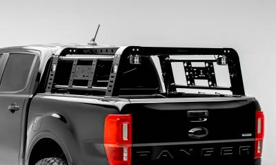 2019-2021 Ford Ranger Overland Access Rack With Two Lifting Side Gates and (4) 3 Inch ZROADZ LED Pod Lights - PN #Z835101 - Image 2