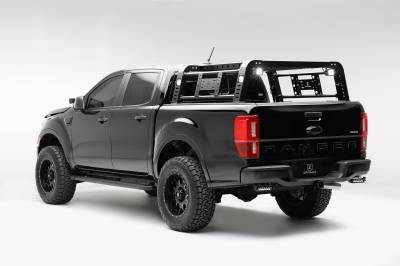 2019-2021 Ford Ranger Overland Access Rack With Two Lifting Side Gates and (4) 3 Inch ZROADZ LED Pod Lights - PN #Z835101 - Image 4